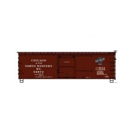 Accurail HO Scale 36' Double-Sheathed Wood Boxcar C&NW #54872 (Boxcar Red black Logo)