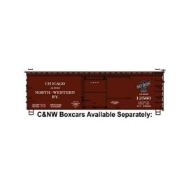 Accurail HO Scale 36' Double-Sheathed Wood Boxcar C&NW #12560 (Boxcar Red black Logo)