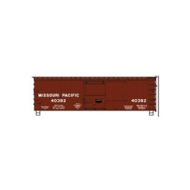 Accurail HO Scale 36' Double-Sheathed Wood Boxcar w/Steel Roof Wood Ends Fishbelly Kit MP #40382 (Boxcar Red)