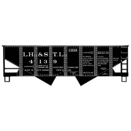 Accurail HO Scale USRA 55-Ton 2-Bay Hopper - Kit LH&STL L&N #4139