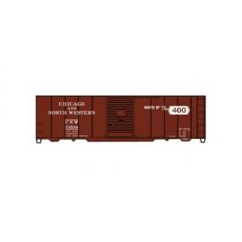Accurail HO Scale AAR 40' Single-Door Steel Boxcar Kit Chicago & North Western #15369