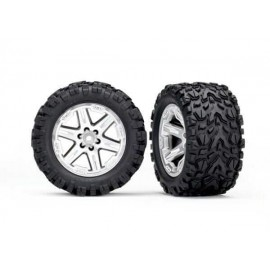"Traxxas Rustler 4x4 Talon EXT 2.8"" Pre-Mounted Tires w/RXT Wheels (2) (Black)"