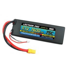 Common Sense RC Lectron Pro 11.1V 7600mAh 75C Lipo Battery XT90