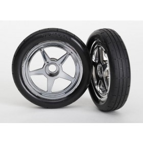 Traxxas Funny Car Mounted Front Wheels and Tires