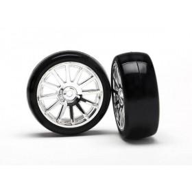 Traxxas Chrome 12 Spoke Wheels and Tires (2) LaTrax Rally