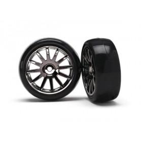 Traxxas Black 12 Spoke Wheels and Tires (2) LaTrax Rally
