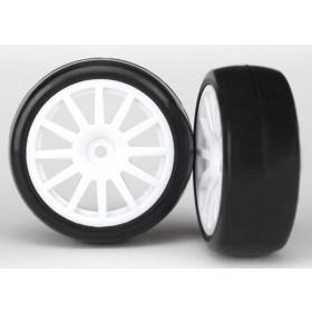 Traxxas White 12 Spoke Wheels and Tires (2) LaTrax Rally