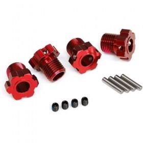 Traxxas E-Revo VXL Splined 17mm Wheel Hubs Red