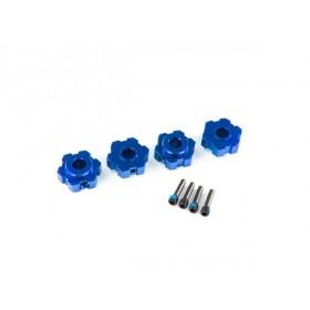 Traxxas Maxx Blue Aluminum Hex Wheel Hubs (4)